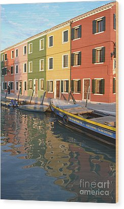 Wood Print featuring the photograph Burano Italy 1 by Rebecca Margraf