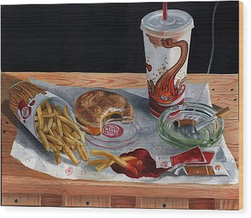 Burger King Value Meal No. 2 Wood Print by Thomas Weeks