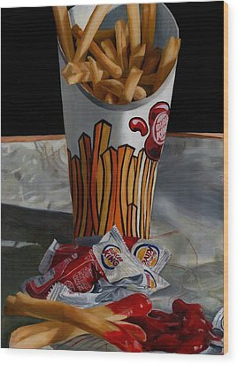 Burger King Value Meal No. 5 Wood Print by Thomas Weeks