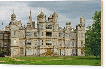 Burghley House Wood Print