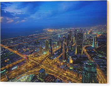 Burj Khalifa View Wood Print