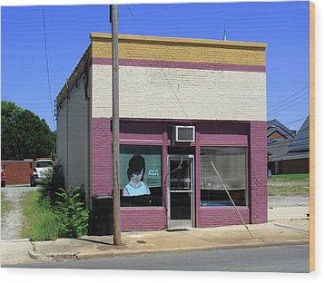Burlington North Carolina - Small Town Business Wood Print by Frank Romeo
