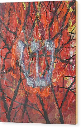 Burning Bush Wood Print by Mordecai Colodner