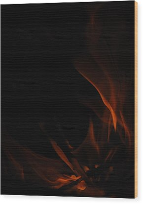 Burning Desire Wood Print by Kimberly Camacho