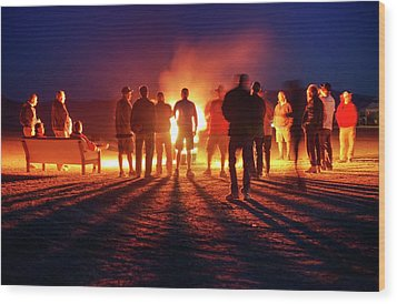 Wood Print featuring the photograph Burning Grains Of Rocket Fuel by Peter Thoeny