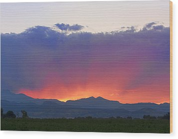 Burning Rays Of Sunset Wood Print by James BO  Insogna