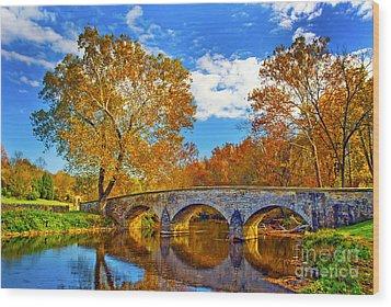 Burnside Bridge At Antietam Wood Print by Paul W Faust -  Impressions of Light