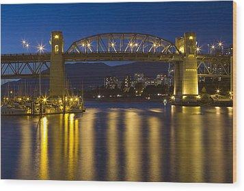 Burrard Street Bridge Vancouver Wood Print by Naman Imagery