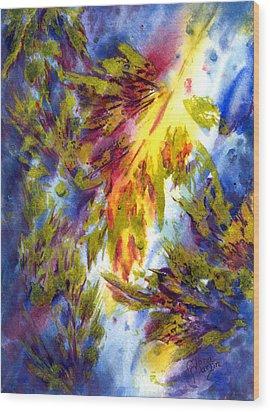 Burst Of Fall Wood Print