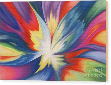 Burst Of Joy Wood Print by Lucy Arnold