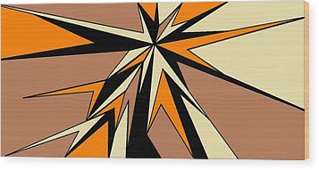 Burst Of Orange 2 Wood Print by Linda Velasquez
