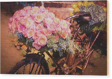 Bursting With Flowers Wood Print