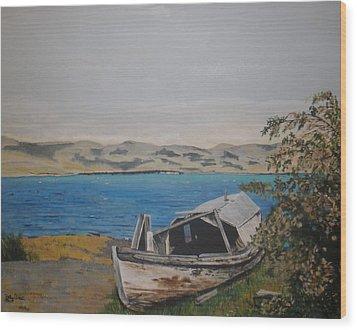 Wood Print featuring the painting Burwash Landing Yukon by Betty-Anne McDonald