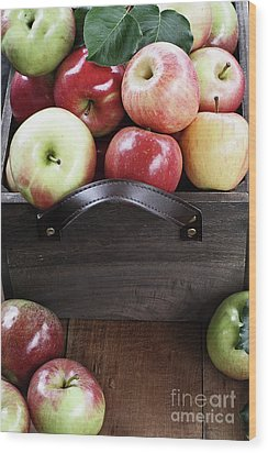 Wood Print featuring the photograph Bushel Of Apples  by Stephanie Frey