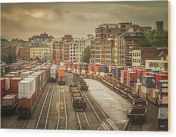 Wood Print featuring the photograph Busines End Of The City... by Russell Styles