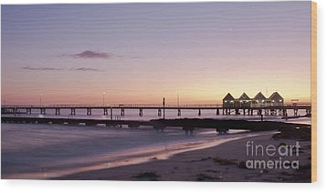 Wood Print featuring the photograph Busselton Jetty Sunrise by Ivy Ho