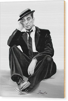 Buster Wood Print by Ferrel Cordle