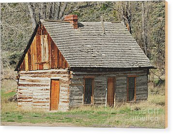 Butch Cassidy's Family Homestead Wood Print by Dennis Hammer