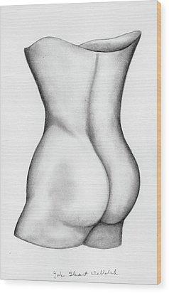 Wood Print featuring the drawing Butt Of A Study by John Stuart Webbstock