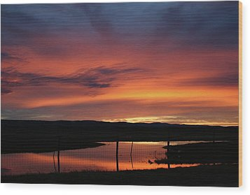 Butte County Sunrise Wood Print