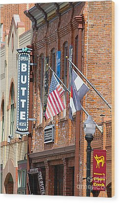 Butte Opera House In Colorado Wood Print