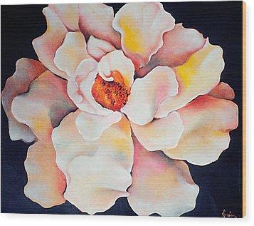 Butter Flower Wood Print by Jordana Sands