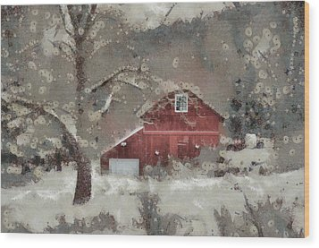 Wood Print featuring the mixed media Butter Lane by Trish Tritz
