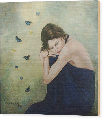 Butterflies 2 Wood Print by Joan Barnard