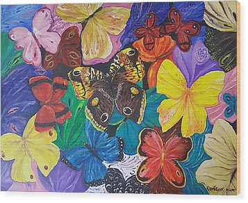Butterflies 2 Wood Print by Rita Fetisov