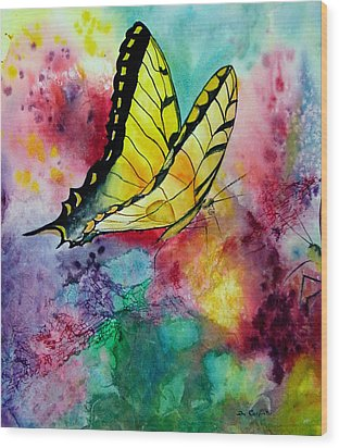 Butterfly 2 Wood Print by Dee Carpenter
