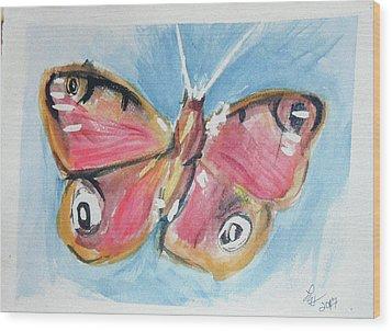 Butterfly 3 Wood Print by Loretta Nash