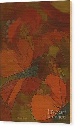 Butterfly Abstract Wood Print by Deborah Benoit