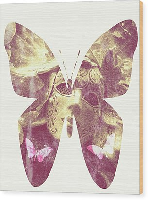 Butterfly Angel Wood Print