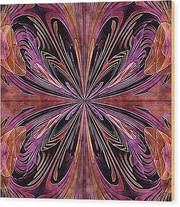 Butterfly Art Nouveau Wood Print by Susan Maxwell Schmidt