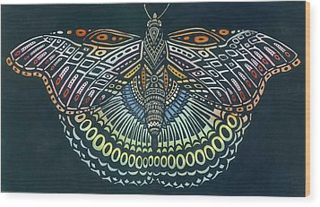 Butterfly Bits Wood Print by Anne Havard