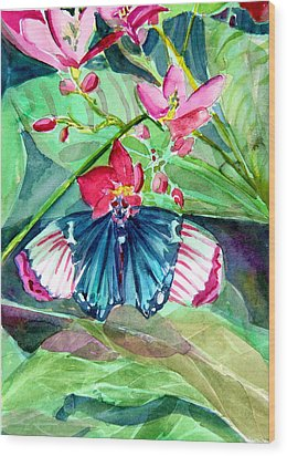 Butterfly Buffet Wood Print by Mindy Newman