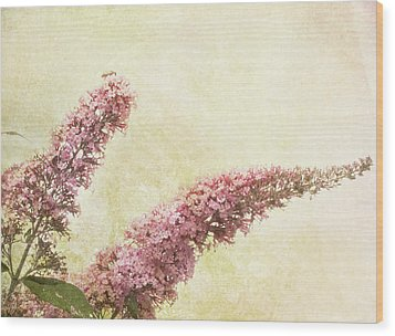 Wood Print featuring the digital art Butterfly Bush by Margaret Hormann Bfa