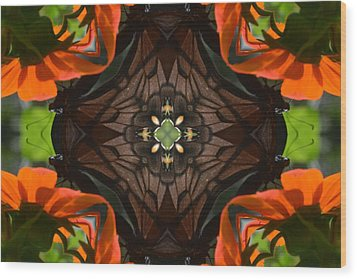 Butterfly Corner Wood Print by Chad Wasden