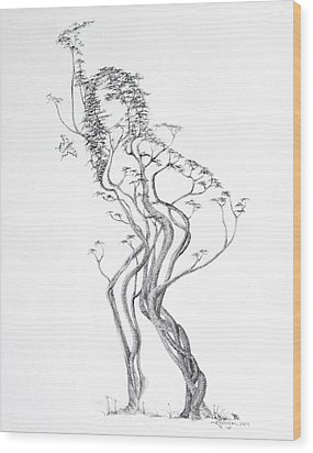 Butterfly Dancer Wood Print by Mark Johnson