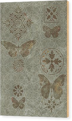 Butterfly Deco 2 Wood Print by JQ Licensing