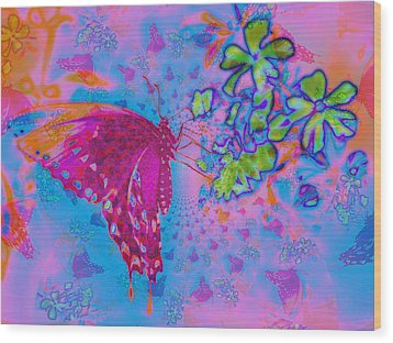 Butterfly Dreams Wood Print by Rose  Hill