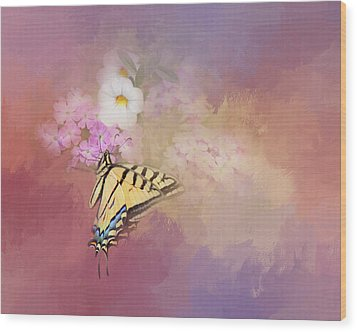 Wood Print featuring the photograph Butterfly Dreams by Theresa Tahara