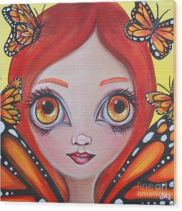 Butterfly Fairy Wood Print by Jaz Higgins