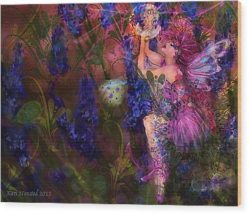 Wood Print featuring the digital art Butterfly Fairy by Kari Nanstad