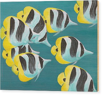 Butterfly Fish Wood Print