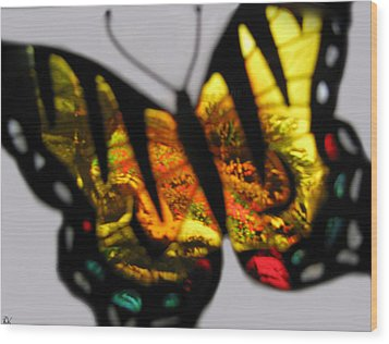 Butterfly Floral Collection  Wood Print by Debra     Vatalaro