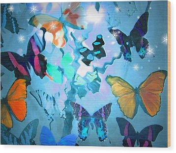 Butterfly Heaven Wood Print by Rosalie Scanlon