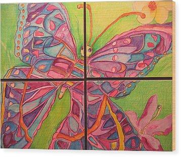 Butterfly Joy Wood Print by Marlene Robbins
