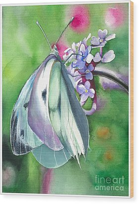 Butterfly Kisses Wood Print by Maya Marcotte