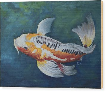 Butterfly Koi I Wood Print